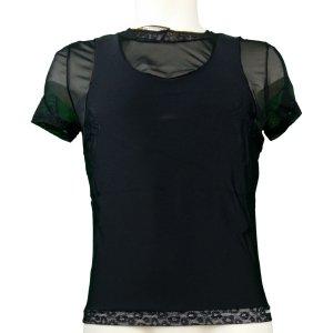 T-shirt Noir Lookme Midnigh de face