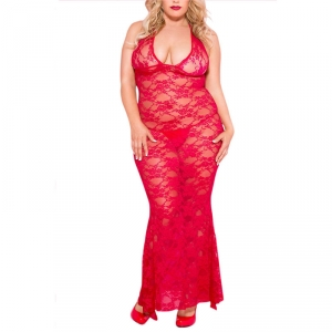 Music Legs Nuisette Longue Kate Grande Taille Rouge