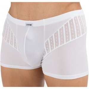 Boxer Trouble LookMe vue de Face - Colorie Blanc